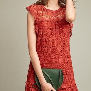 NWT Anthropologie Brindisi Lace Tunic Dress